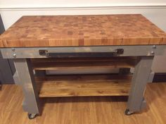 Super chunky end grain oak top butchers block baking table hand made to order   see https://www.etsy.com/your/shops/me/dashboard?ref=seller-platform-mcnav