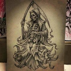 """28 Likes, 5 Comments - Patrick Sandate (@310southbay) on Instagram: """"Gonna be getting this tattooed on me in 2 weeks! #grimreaper #reaper #tattoo"""""""