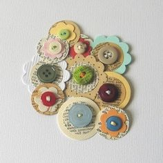 buttons. - Pins I've Used IRL: inspired embellishments as seen on my blog here http://julieannshahin2.blogspot.com/2011/08/scrapbooking-embellishments-for.html