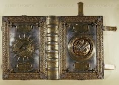 Metal cover of a Venetian ship's log-book with compass   Museo Correr, Venice, Italy