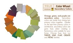 YOLO Colorhouse - Secondary colors - Color Wheel