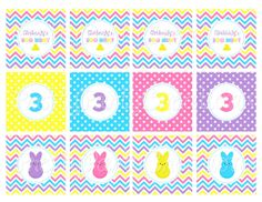 PEEPS easter egg hunt cupcake toppers  YOU by PrettyPartyCreations, $5.25