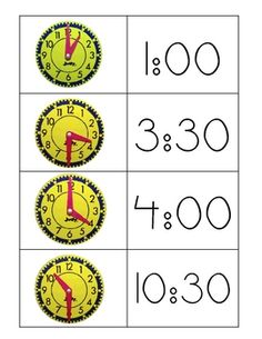 These matching time cards are perfect for math centers or a mini-lesson....