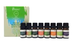 Find a scent for any mood or occasion with this 8-pack of pure therapeutic grade essential oils, including lavender, orange, and peppermint