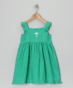 Take a look at this Green Embroidered Dress - Infant, Toddler & Girls by Sugar by Cupcakes & Pastries on #zulily today!