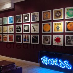 Album covers as wall art