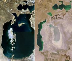 """ ... the shrinking of the Aral Sea has been called ""one of the planet's worst environmental disasters."" we can do better ...    mo'ynoq, moynoq, aral sea, shrinking of the aral sea, ghost town, ships in desert, desert ships, soviet union, evaporation, climate change,"