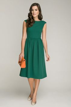 Bright Green Dress.Casual Short Sleeve Summer by FashionDress8