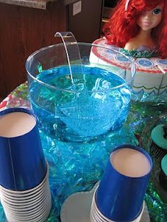 blue sprite - !!!   I mixed 2 liters of Sprite with 2 drops blue food coloring, that easy!