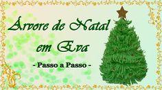 ÁRVORE DE NATAL EM EVA  - PASSO A PASSO
