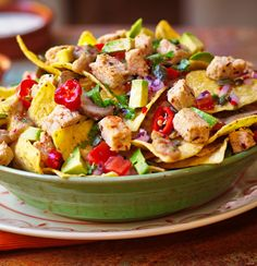 Vegan Nachos: A great dish to share as a starter or as a main meal, prepare to get messy! => Recpie => http://www.quorn.us/recipes/vegan-nachos/