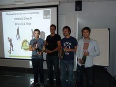 Proficiat aan onze medewerkers van de maand: Dries D, Dries S, Ruben en Thijs