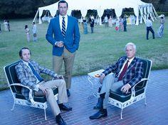 PETE CAMPBELL, DON DRAPER & ROGER STERLING   Vincent Kartheiser, Jon Hamm & John Slattery   ©Frank Ockenfels, AMC.