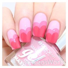 Gel Nail Designs You Should Try Out – Your Beautiful Nails Manicure Rose, Manicure Y Pedicure, Manicure Ideas, Nail Art Saint-valentin, Pink Nail Art, Gel Nagel Design, Valentine's Day Nail Designs, Nails Design, Heart Nail Designs