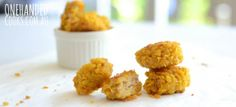 Chicken and Cannellini Bean Nuggets – One Handed Cooks Chicken and Cannellini Bean Nuggets with a cornflake crumb are our latest little creation, you'll love them Healthy Eating Recipes, Baby Food Recipes, Cooking Recipes, Toddler Recipes, Family Recipes, Finger Foods For Kids, Baby Finger Foods, Healthy Toddler Meals, Kids Meals
