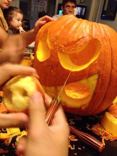 Pumpkin carving #fall #pumpkin