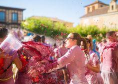 Epic wine battle in Spain