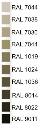 Codici RAL per il colore tortora
