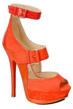 Tangerine mile high heels