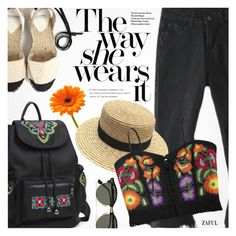 """""""Festival"""" by pokadoll ❤ liked on Polyvore featuring Chanel and Ray-Ban"""