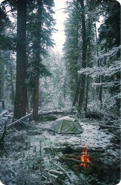 Winter camping. #heaven #nature #camping