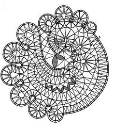 Основой в кружевоплетениии является Сколок. Это картинка,представляющая собой схему для будущего плетения,по которому кружевница будет выплетать кружево. Hairpin Lace Crochet, Crochet Motif, Crochet Edgings, Crochet Shawl, Bobbin Lace Patterns, Bead Loom Patterns, Lace Earrings, Lace Jewelry, Bruges Lace