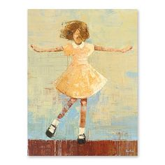 Twirl Canvas Art by Becky Kinkead