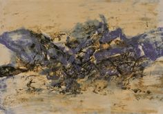 Zao Wou-Ki / found on www.kunzt.gallery / Untitled, 1998 / Lithograph