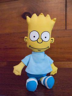 "1990 Bart Simpson DanDee Matt Groening Simpsons Plush Doll- 10.5"" by JenuineCollection on Etsy"