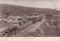 Inchanga Railway Station sometime between 1894 and Steam Railway, Rolling Stock, This Is Us, Painting, Vehicles, Painting Art, Paintings