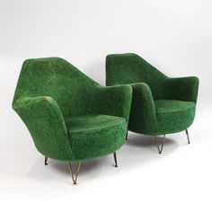 Pair of 1960s Italian chairs in original fabric in Seating from Fiona McDonald