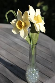 Two daffodil Felt Flower Bouquet