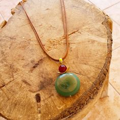 Necklace with agate natural stone