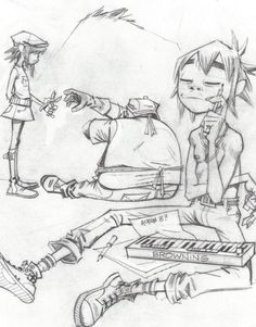 Noodle, Russel and 2D