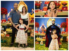 Lívia com os pais e a Rainha Má