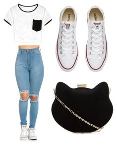 """Going shopping"" by lildae on Polyvore featuring Converse and New Look"