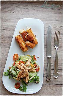 Salat mit Käsesticks