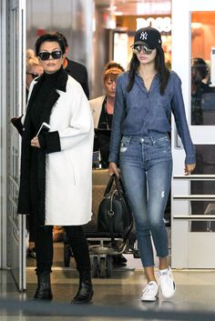 Kris Jenner and Kendall Jenner at JFK airport in New York City on May 3, 2015.   - Cosmopolitan.com