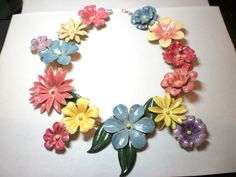 I've been searching for an enamel floral necklace and I finally found it. It's only $2.4K Sandor Floral Enamel Necklace by Sandor Goldberger