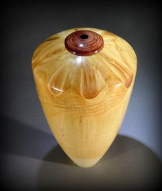 Eastern White Pine hollow vessel, by New England woodturner Ray Asselin. At Bowlwood.com.
