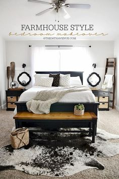 40+ Fabulous Farmhouse Style Master Bedroom Inspirations