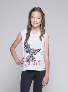 Urban Angel Girls Clothing Online - Pumpkin Patch New Zealand,Loving this Freedom Dove top with bling it would suit my daughters style really well #DearPumpkinPatch