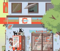 Pixel Art - Convenience Store on Behance Game Level Design, Game Design, Design Ideas, How To Pixel Art, 2d Rpg, Game 2d, Space Grunge, Pixel Art Games, Game Background