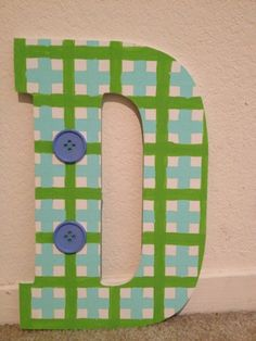 My version of a painted wooden letter. for sweetest D