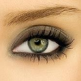 Grey Smokey Eye... Perfect for green eyes.