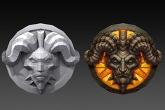 Hand Painted Textures, 3d Background, Texture Painting, Low Poly, Lion Sculpture, Objects, Statue, 3d Hand, Game Ui