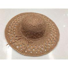つば広帽子 (麦わら帽子)仕入れ、問屋、メーカー・生産工場・卸売会社一覧 Crochet Hat With Brim, Crochet Summer Hats, Crochet Beanie, Bonnet Crochet, Crochet Cap, Diy Crochet, Sombrero A Crochet, Crochet Ripple, Diy Hat