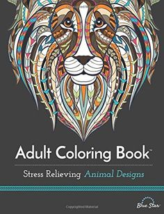 Adult Coloring Book Stress Relieving Animal Designs Calm Fun New Paperback In Books Nonfiction