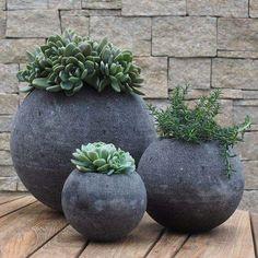 cool shape for a succulent area #contemporaryoutdoorplanter
