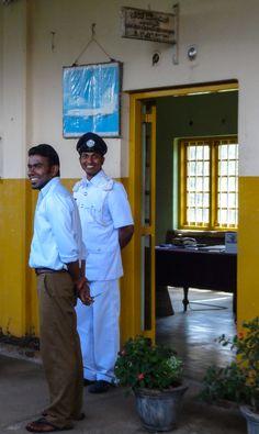 Happy Sri Lankan train staff from  Kandy Ella Train #srilanka #travel #travelphotography